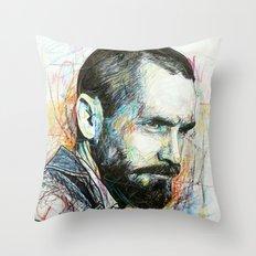 Charles Manson Throw Pillow