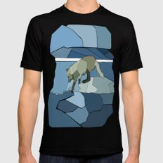 Artic Wolf Mens Fitted Tee Black SMALL