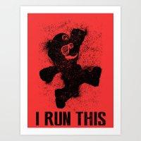 Mario Boss Black Version Art Print