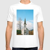 Country Church In The Mo… Mens Fitted Tee White SMALL