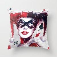 Harley Quinn NYCC 2014 Throw Pillow