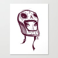 Canvas Print featuring Skully Helmet by ~emroca~