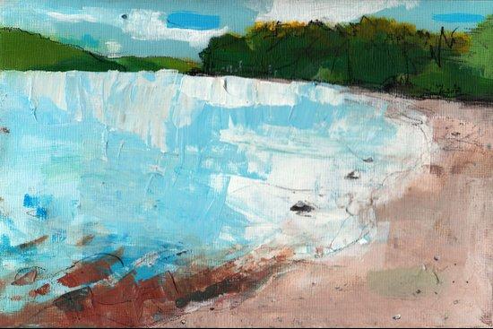 Riverbank Art Print