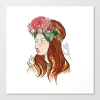 Ellie Rose Canvas Print
