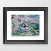 Panda Surfer Framed Art Print