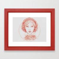 Simple Portrait Framed Art Print