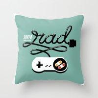 Super Rad Throw Pillow