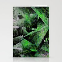 Green Triangles Stationery Cards