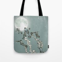 Flight of the Salary Men (color option) Tote Bag