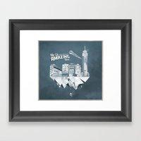 Sick City Framed Art Print