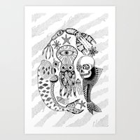 Sea Creatures Art Print