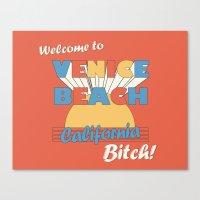 VENICE BEACH BITCH Canvas Print