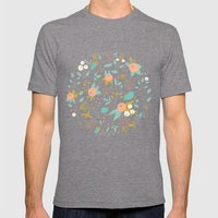 Flower Basket Mens Fitted Tee Tri-Grey SMALL