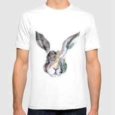 Hare Sketch #1 Mens Fitted Tee White SMALL