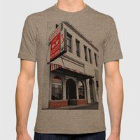 Old school Pho Mens Fitted Tee Tri-Coffee SMALL
