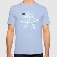 QB Formation Mens Fitted Tee Tri-Blue SMALL