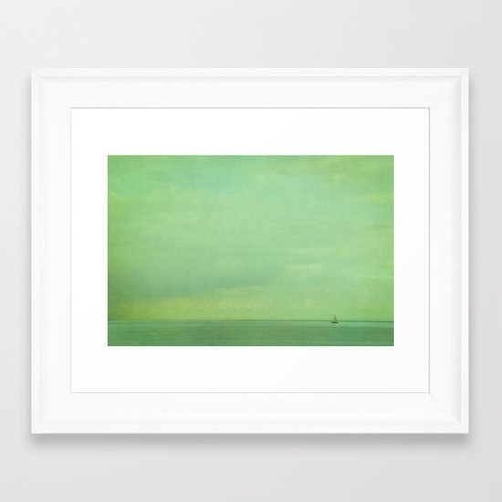 lost in green Framed Art Print
