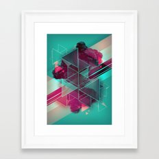 Triangled Framed Art Print