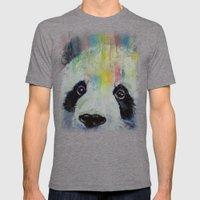 Panda Rainbow Mens Fitted Tee Tri-Grey SMALL