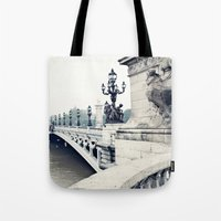 Paris in black and white Tote Bag