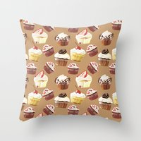 Cup cakes patterns Throw Pillow
