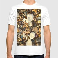 Beach Pebbles Mens Fitted Tee White SMALL