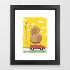 Road trip with teddy, or else Framed Art Print