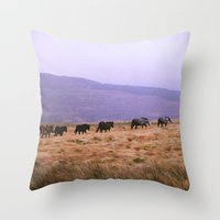 Horse Line Throw Pillow