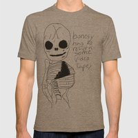 bonesy has to return some video tapes Mens Fitted Tee Tri-Coffee SMALL