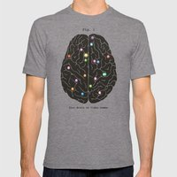 Your Brain On Video Game… Mens Fitted Tee Tri-Grey SMALL
