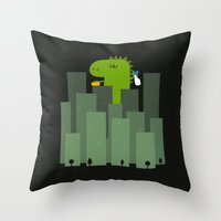 Clean monster Throw Pillow