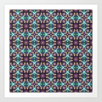 Intricate Colorful Patte… Art Print