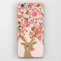 Love Deer Valentines day floral flower antlers Andrea Lauren  iPhone & iPod Skin