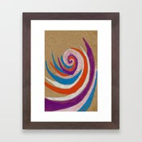 snoozy spiral Framed Art Print