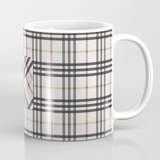 Plaid Pocket - White / Black Mug