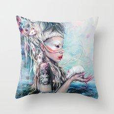 Yolandi The Rat Mistress  Throw Pillow