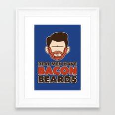 Bacon Beard (men's version) Framed Art Print