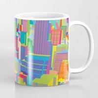 Cityscape windows Mug