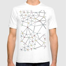 Seg with Color Spots White Mens Fitted Tee White SMALL