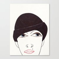girl in a hat Canvas Print