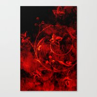 Passion Orange Canvas Print