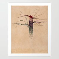 Sweet Birch (color variation) Art Print