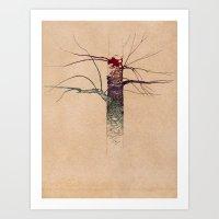 Sweet Birch (color Varia… Art Print