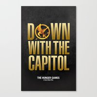 Hunger Games - Down With the Capitol Canvas Print