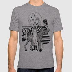 the girl, her dog and a bird Mens Fitted Tee Athletic Grey SMALL