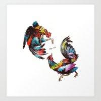 Cocks Art Print