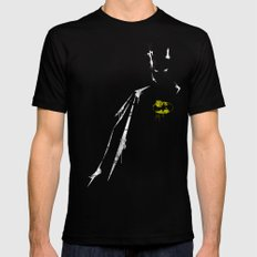 bat Black SMALL Mens Fitted Tee