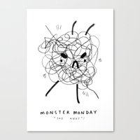 Monster Monday / the knot Canvas Print