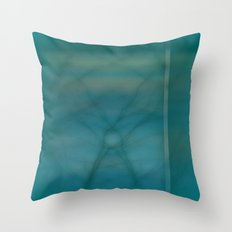 Abstract ~ Twigs at Sunset  Green Throw Pillow