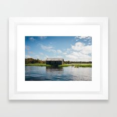 House on Water Framed Art Print